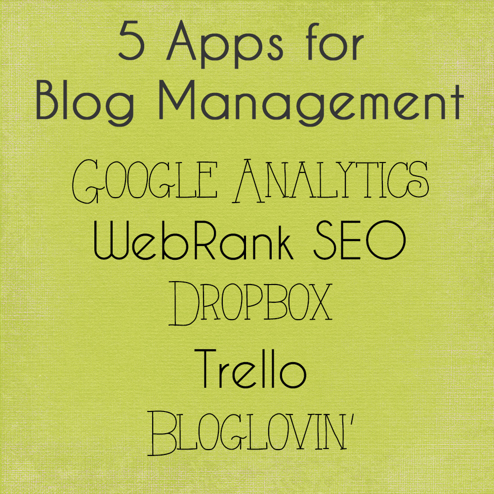 5 Apps for Blog Management List