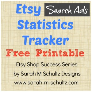 Etsy Search Ads Statistics Tracker [Free Printable]