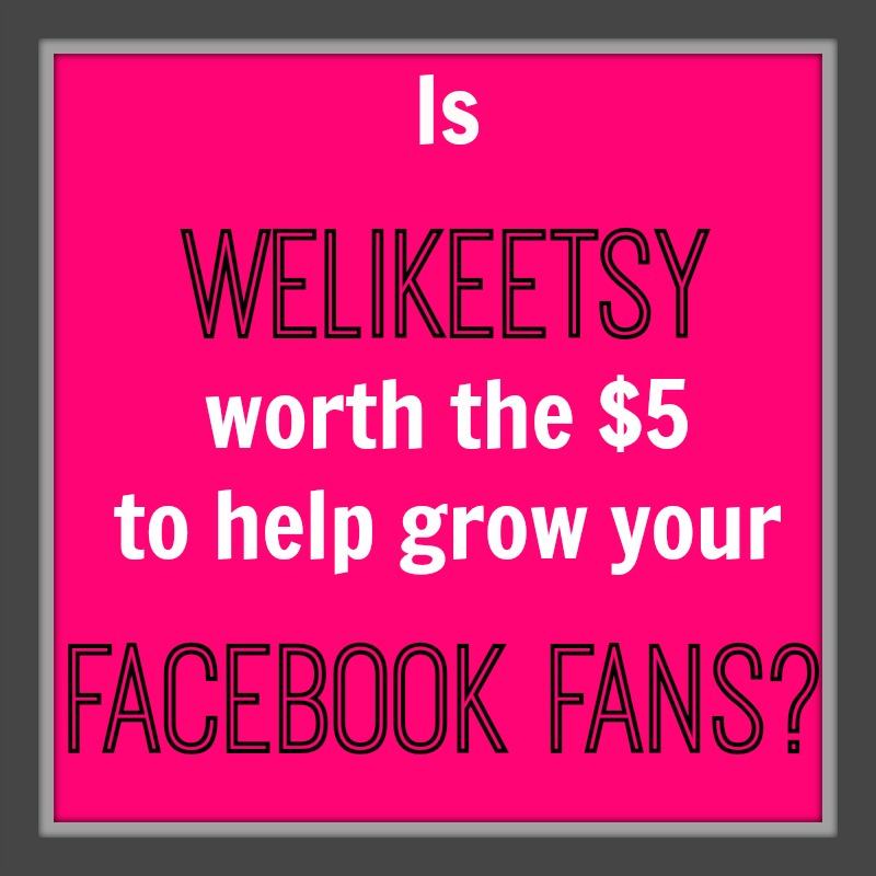 Grow Facebook Fans with WeLikeEtsy