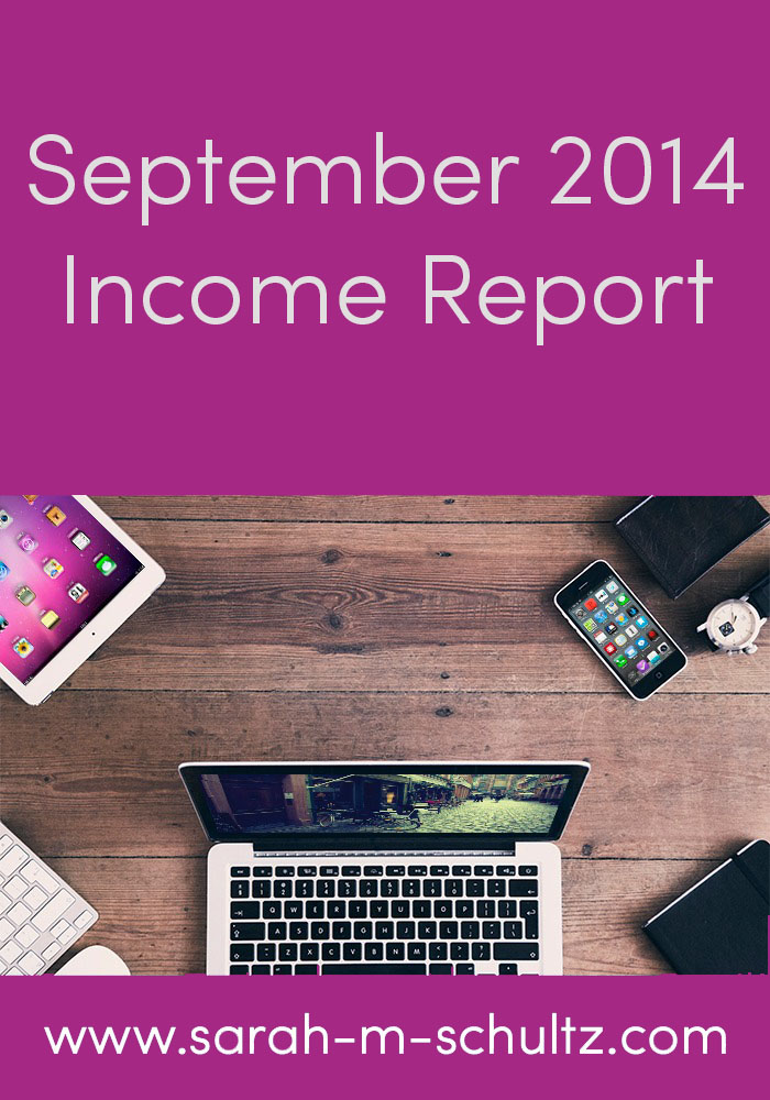September 2014 Monthly Income Report