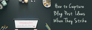 How to Capture Blog Post Ideas When They Strike